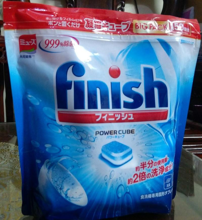 Viên rửa bát Finish Nhật túi 150 viên,Vien rua bat finish 1