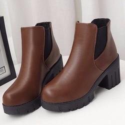 B095N - Giày Boot Nữ Cao Gót Cá Tính