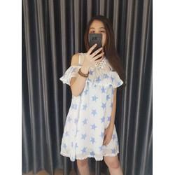 Đầm babydoll khoét vai