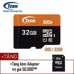 Thẻ nhớ MicroSD Team UHS-I 32Gb Nhanh hơn Class 10 tặng kèm Adapter