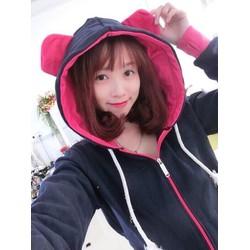 áo khoác hoodie tai gấu