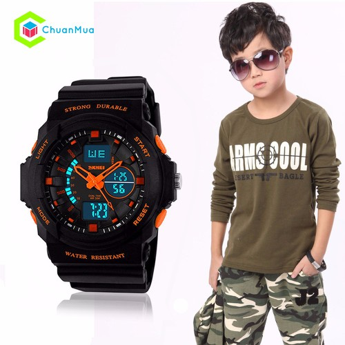 Đồng hồ Bé Trai Skmei 1061 Strong Durable Size Nhỏ DHA455-D1501 - Cam