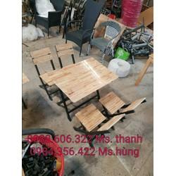 Thanh lý gấp bàn ghế gỗ quán ăn 25 bộ giá gốc