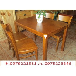 bộ bàn ghế gỗ thông bán tại nơi sản xuất