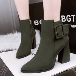 B093X - Giày Boot Nữ Cao Gót Cá Tính