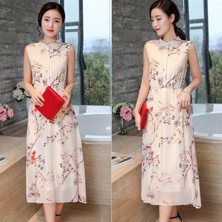 Đầm Voan Hoa Dáng Dài - RR132 thumbnail