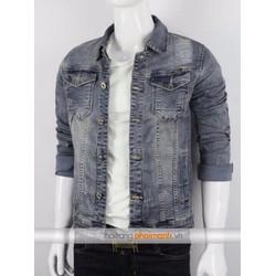 Áo Khoác Jean nam thời trang cực đẹp - xanh xám