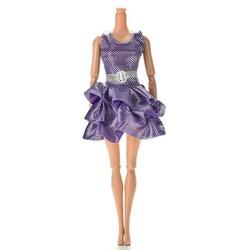 váy tím cho búp bê