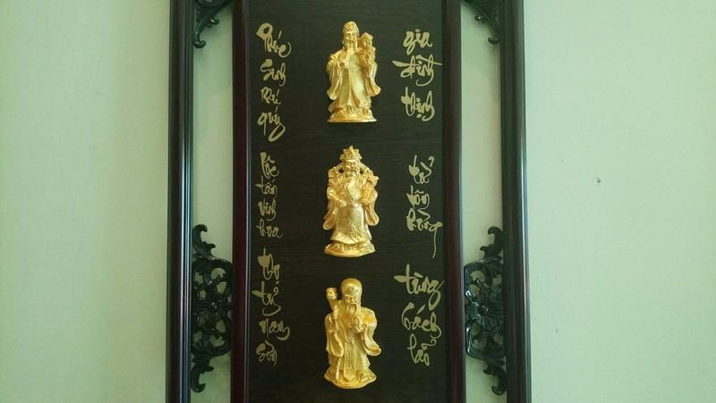 Khung Lịch Gỗ Khắc Phù Điêu Phúc Lộc Thọ Cao Cấp- Mẫu 04 3