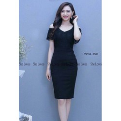 Đầm body rớt vai cực xinh giảm giá cực sốc