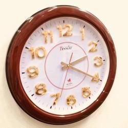 Đồng hồ treo tường giả gỗ - Quà tặng tân gia ý nghĩa