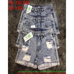 Quần jean short nữ xám xanh thời trang và cá tính QSO389