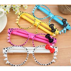Bút bi hình mắt kính Kitty