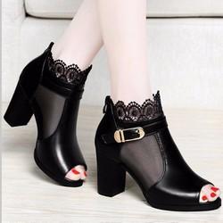 Giày cao gót nữ thời trang, kiểu dáng thanh lịch nữ tính, mẫu Hàn