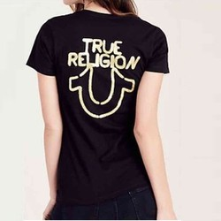 LH13719S-Áo thun ngắn tay True Religion S - Cotton - Đen