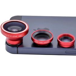 Bộ len 3 in 1 fish eye cho điện thoại giúp tăng góc chụp ảnh