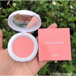 Phấn má hồng Apieu Pastel màu Pk04 hồng siêu xinh