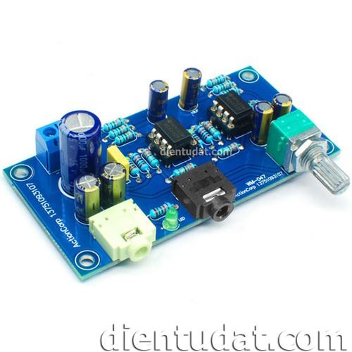 Kit diy mạch khuếch đại đệm âm thanh wm-047 nguồn đơn dc - tự ráp
