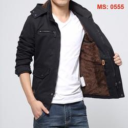 Áo khoác kaki nam lót lông có mũ thời trang XMEN123 0555