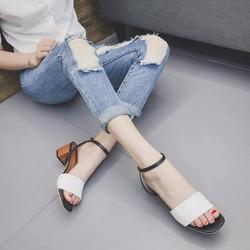 Giày gót thấp phong cách korea K2CG74