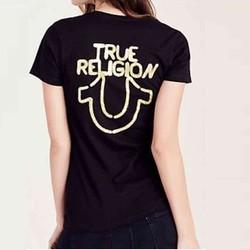 LH13719S-Áo thun ngắn tay True Religion L - Cotton - Đen