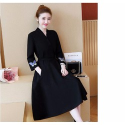 Đầm dài màu đen cao cấp hàng chất lượng cao