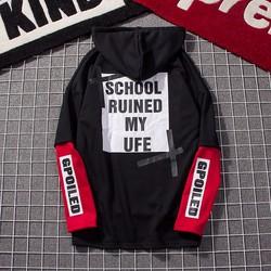 áo thun hoodie shool ruined my life Mã: NT1836 - ĐEN