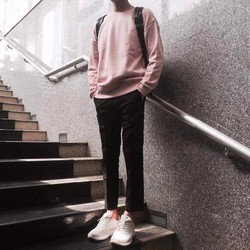Áo sweater unisex pink