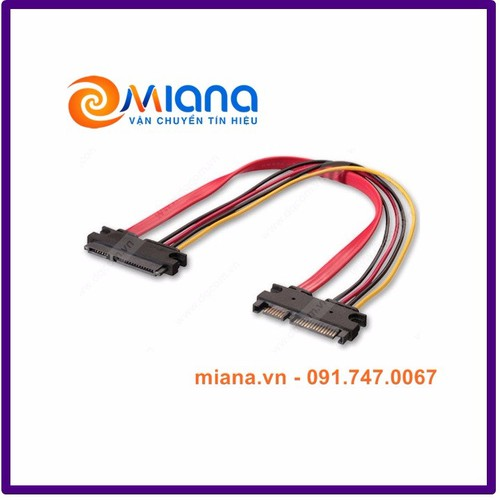 Cáp nối dài SATA+Power 50cm cho HDD, SSD, DVD