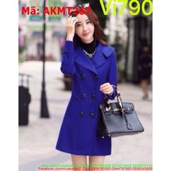 Áo khoác dạ nữ dạng vest 6 nút thời trang và sành điệu AKMT267