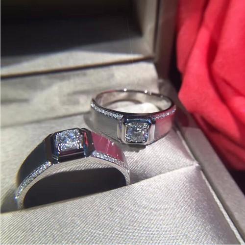 Nhẫn Nam kim cương cao cấp 4