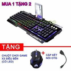 Bàn phím giả cơ G700 tặng kèm chuột X3 và cáp kết nối OTG