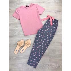 Set áo thun + quần hoa hot hit khách đặt inbox hình check hàng