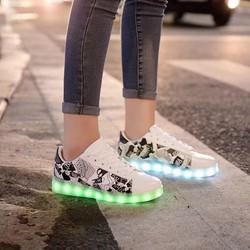 Giày phát sáng hoạ tiết giày, 7 màu, thời trang đẹp cho nữ
