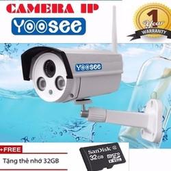 Camera Yoosee Lắp ngoài trời A6B - Có Mic, LAN + Thẻ nhớ 32Gb