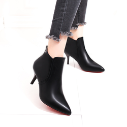 Giày boot nữ cổ ngắn sexy màu đen 7cm