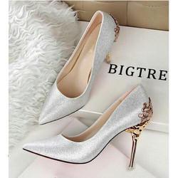 giày cao gót 9cm, thiết kế hợp thơi trang
