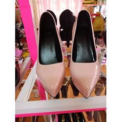 giày cao got mũi nhọn màu hồng