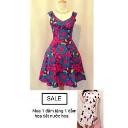 Đầm Hoa Mặt Trời W502 + tặng đầm họa tiết nước hoa