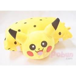 Gối đi xe máy 1 đầu cho bé - hình Pikachu - Màu vàng đốm Pipobun
