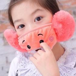 khẩu trang kiêm chụp tai giữ ấm cho bé yêu từ 2 tuổi -14 tuổi