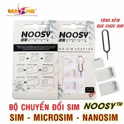 Bộ adaptor chuyển đổi đa năng Nano Sim NOOSY® - Chính Hãng
