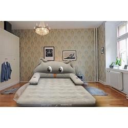 Nệm hơi, giường hơi hình thú totoro cỡ lớn cao cấp tặng kèm bơm điện
