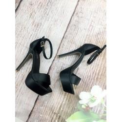 Giày sandal cao gót 12cm, quai ngang