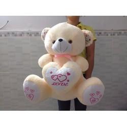 Gấu bông uyên ương thêu quà tặng của tình yêu
