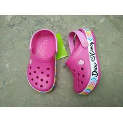 Dép cá sấu Crocs. band drew trẻ em màu hồng đậm