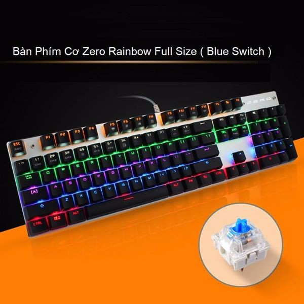Bàn phím cơ Zero X08B Led Rainbow 18