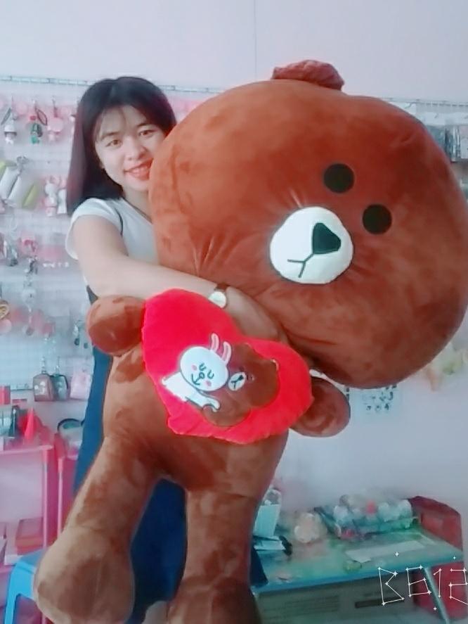 Gấu Brown Ôm Trái Tim Love- Size 1m2 1