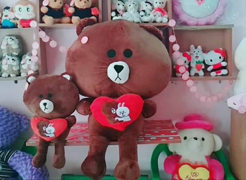 Gấu Brown Ôm Trái Tim Love- Size 1m2 5