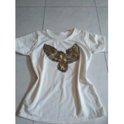 Áo thun cotton hình con chim